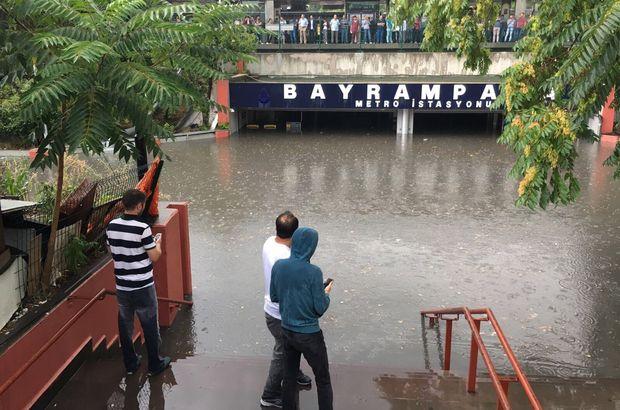 Bayrampaşa Metro'su sel altında