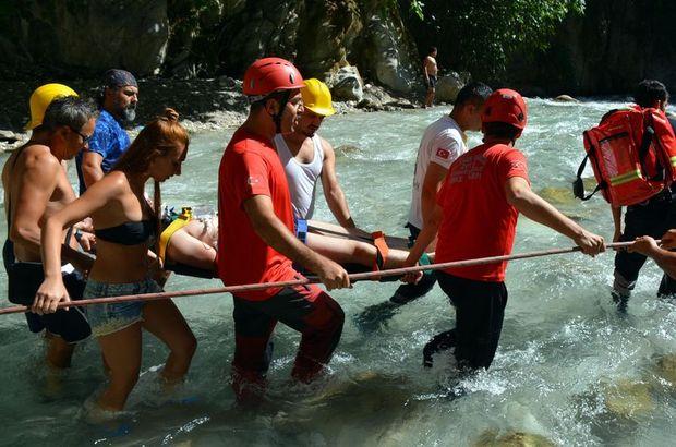 Muğla'da kanyonda düşen kişi kurtarıldı