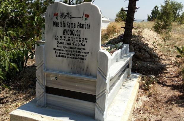 Çorum'da jandarma mezar taşındaki Atatürk ismini sildi