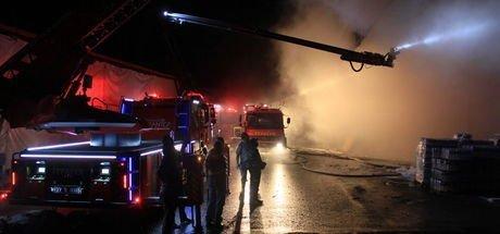 Gaziantep'te toptancılar sitesinde yangın