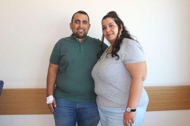 130'ar kiloluk Kocabıyık çifti, fazla kilolarından kurtulmak için tüp mide ameliyatı oldu
