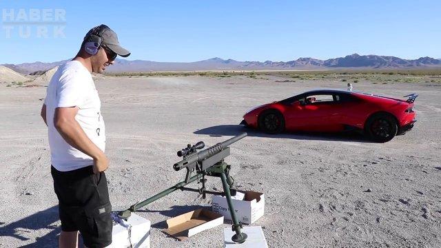 Deney videosu için Lamborghini'sini riske attı