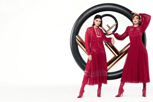 Gigi Hadid ve Kendall Jenner'lı Fendi moda çekimi