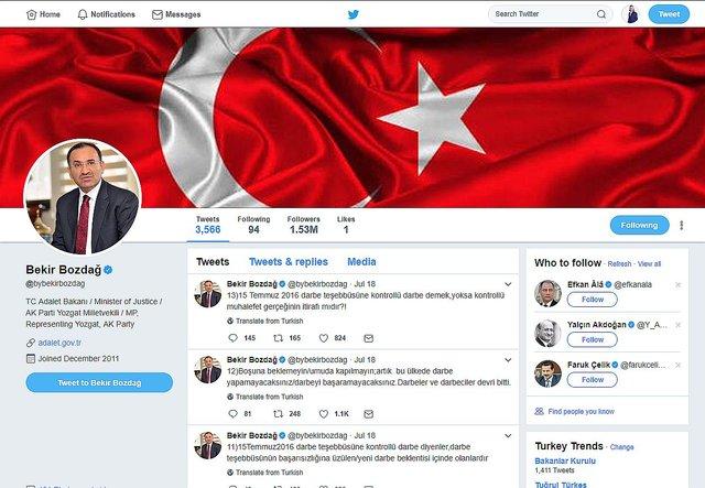Kabinedeki tüm isimlerin Twitter adresleri ve takipçi rakamları
