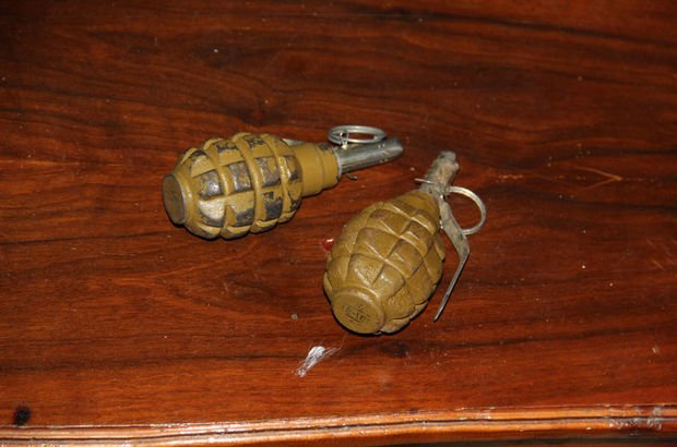 Takibe alınan evde 2 el bombası bulundu!