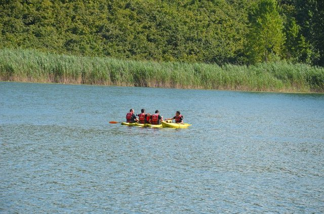 Gaga Gölü kano sporu ile turizme hazırlanıyor