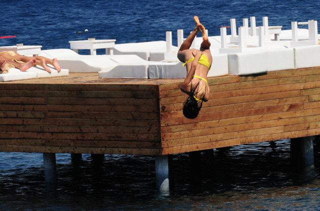 Şilan Makal, Bodrum'da tatil yapıyor