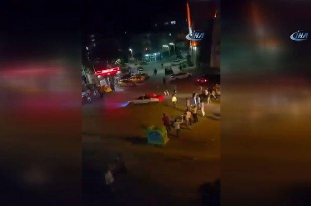Ankara'da şehir magandaları caddede drift yaptı, havaya ateş açtı