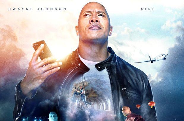 Siri filmde Dwayne Johnson ile başrolde