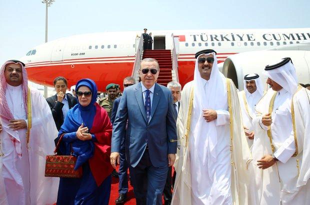 Cumhurbaşkanı Erdoğan, Katar'da!