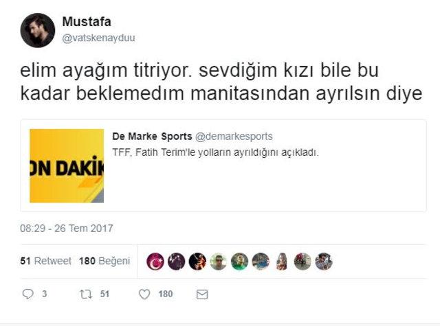 Fatih Terim'in ayrılığının ardından Galatasaray taraftarları sosyal medyada coştu!