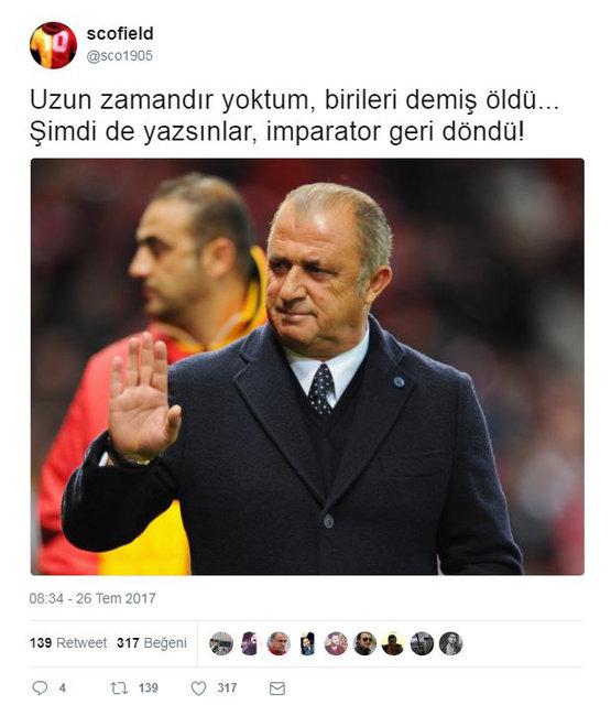 Fatih Terim'in Milli Takım'dan ayrılığının ardından Galatasaray taraftarları sosyal medyada coştu!