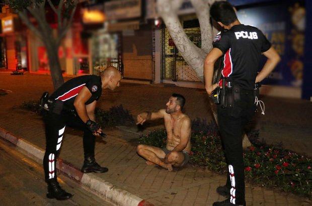 Antalya'da bir kişi polise zor anlar yaşattı
