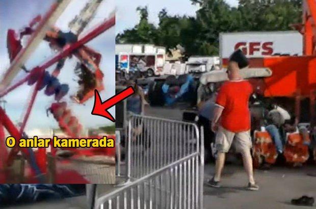 ABD'de lunaparkta feci kaza: 1 ölü, 7 yaralı (video)