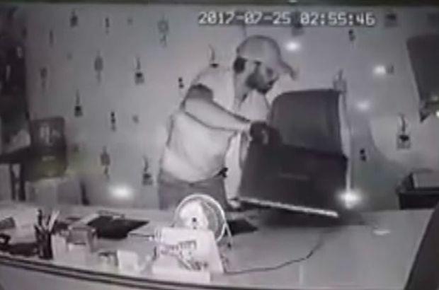 48 saniyede 13 bin liralık cihaz çaldılar (video)