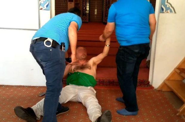 Samsun'da bir kişi camide namaz kıldıran imama ve cemaate saldırdı