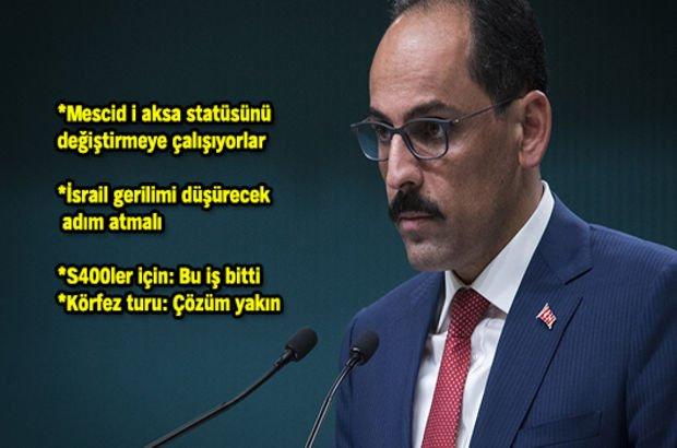 Cumhurbaşkanı Sözcüsü Kalın'dan Habertürk TV'ye özel açıklamalar