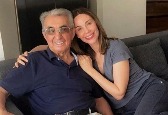 İbrahim Kutluay'ın babası Burhan Kutluay ve Demet Şener