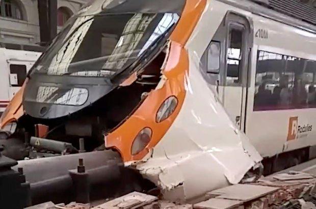 Barcelona'da tren kazası! Son Dakika Haberleri