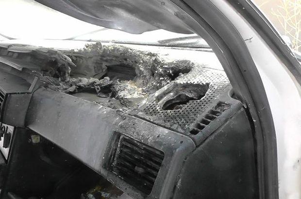 Konya'da otomobilde unutulan cep telefonu patladı