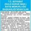 T.C. BOYABAT (SULH HUKUK MAH.) SATIŞ MEMURLUĞU ...