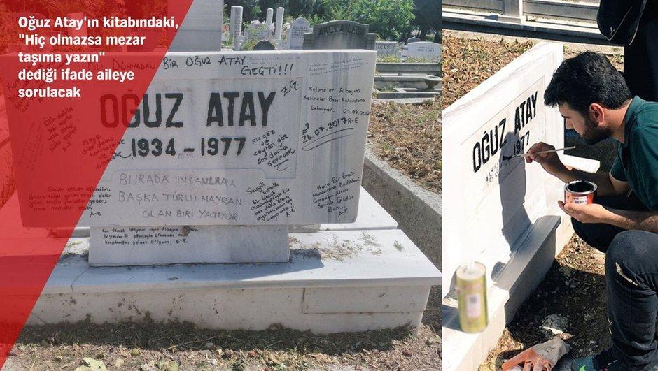 Oğuz Atay mezar taşı Edirnekapı