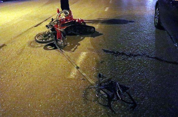 Halatla bir aracın çektiği motosiklet kaza yaptı: 2 yaralı