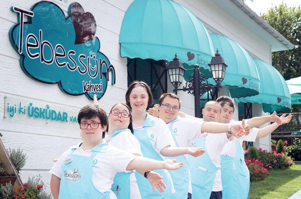 Üsküdar'da Down sendromlu 10 çalışanın hizmet verdiği kafe!