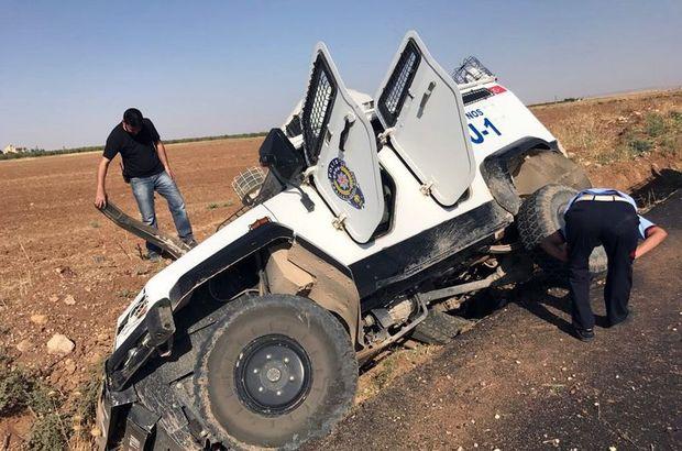 Nusaybin'de zırhlı polis aracı devrildi: 2 polis yaralandı