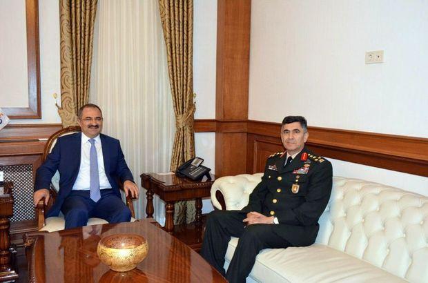 Kara Kuvvetleri Komutanı Orgeneral Çolak'tan Vali Kaban'a veda ziyareti