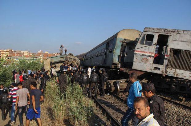 Mısır'da tren kazası: 49 ölü