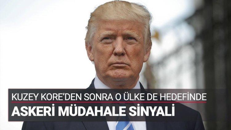 """ABD Başkanı Trump: """"Venezuela için birçok seçeneğimiz var. Bu arada askeri seçeneği de dışlamayacağım"""" dedi"""