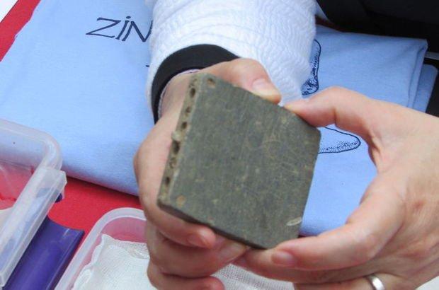 Gaziantep'te yapılan kazılarda 8. yüzyıla ait makyaj kutusu bulundu