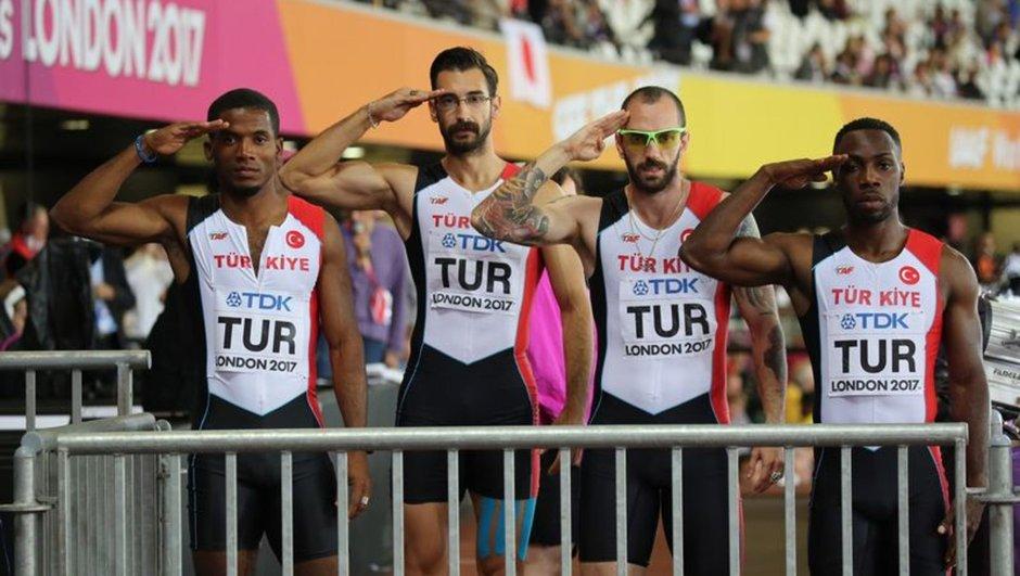 4x100 metre bayrak yarışı