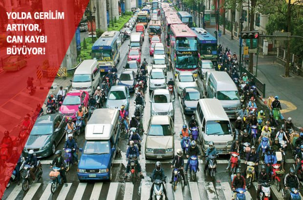 Otomobil şoförü ve motosikletli gerilimi giderek artıyor