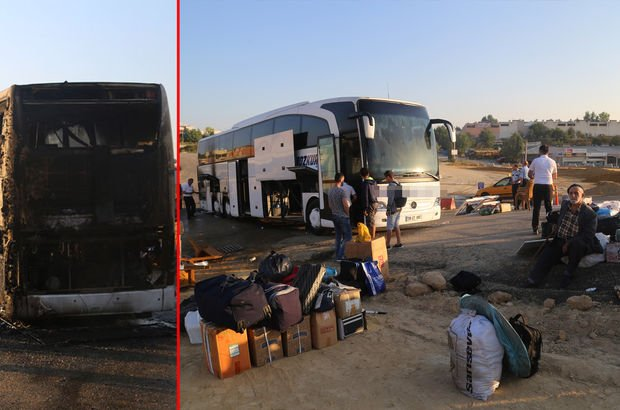 Kastamonu'da yolcu otobüsünde yangın