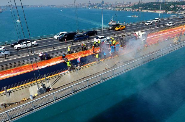 15 Temmuz Şehitler Köprüsü'ndeki çalışma 25 Ağustos'ta bitecek