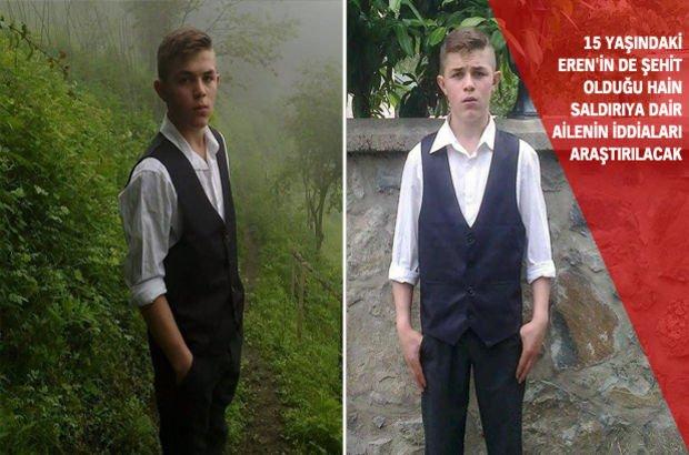 Trabzon  Eren Bülbül maçka terör saldırısı PKK