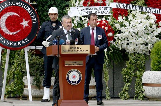 Şehit polis memuru Sinan Acar için İstanbul Emniyet Müdürlüğü'nde tören!