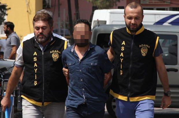Adana'da cinayet zanlısı adliyeye sevk edildi