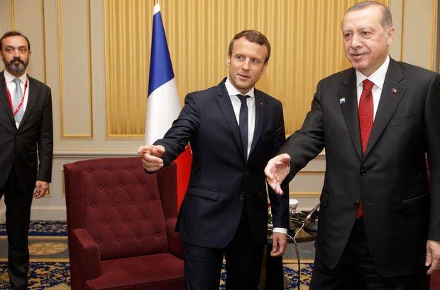 Erdoğan ile Macron telefonda görüştü!