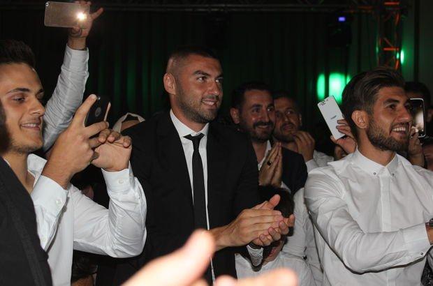 Trabzonlu futbolcular düğünde buluştu