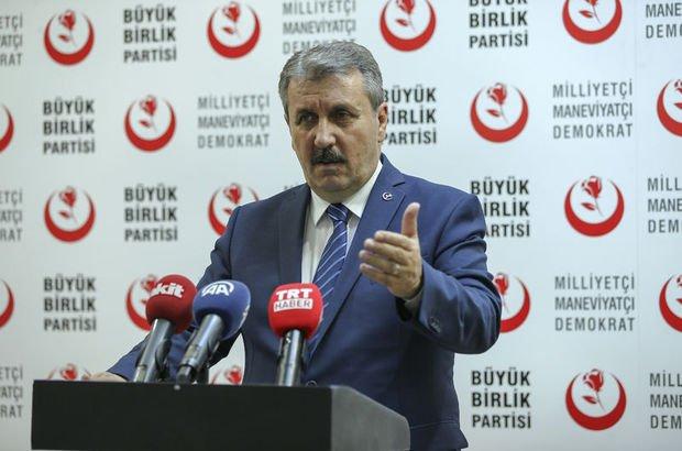 BBP lideri Mustafa Destici'den Irak'taki