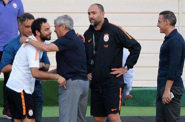 Mircea Lucescu, Galatasaray antrenmanını ziyaret etti