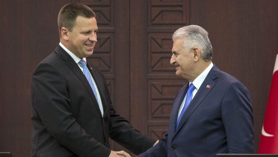 Başbakan Binali Yıldırım ve AB Dönem Başkanı Estonya Başbakanı Jüri Ratas açıklama yaptı