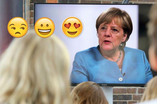İşte Angela Merkel'in en sevdiği emoji!