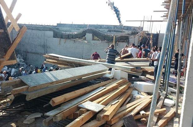 Hatay'da okul inşaatında göçük