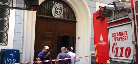Yunanistan'ın İstanbul Başkonsolosluğu'nda yangın