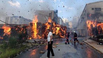 Halkalı'da fabrika yangını