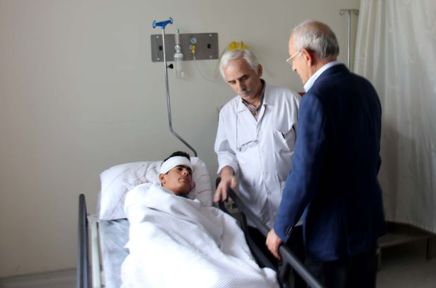Kılıçdaroğlu traktör kazasından yaralı kurtulan genci ziyaret etti